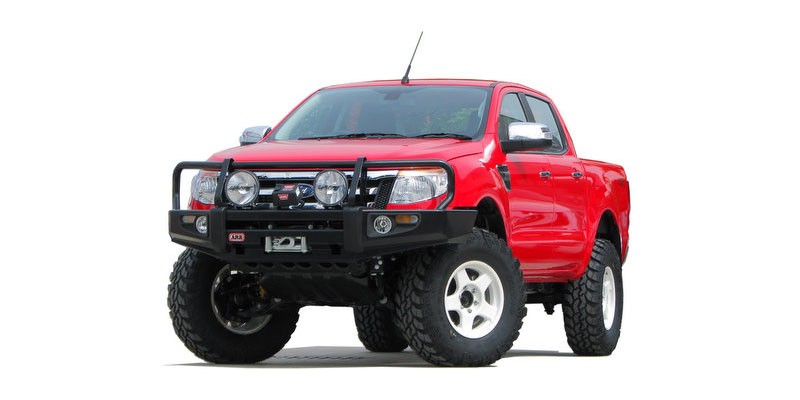 "NEW FORD RANGER T6 BY VVP UP TO 4"" FORM STANDARD1. ARB BULLBAR  กันชนหน้า (สินค้าตัวอย่าง) มีจำหน่ายเร็วๆนี้  2. ชุดช่วงล่าง OLDMAN EMU SHOCK ABSORBER , COIL SPRING , LEAF SPRING (ARB) 3. WINCH WARN NEW 9.5 XP / 95000lbs. 4.LIGHTFORCE GENESIS 210 SPOTLIGHT 5. BRADLEY 17""X8"" WHITE 6. SUPER SWAMPER TIRE IROK-ND 315/70R17"