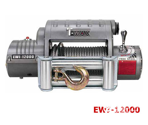 วินซ์ตัวที่ 9 T-Max รุ่น EWI 12000 (OUT BACK SERIES) P/N : 7341282 (12 V/6.6 HP) 12000LB (5440Kg.) /6.6 HP12 V/24 V WEIGHT : 95 lbs / 43 Kg.