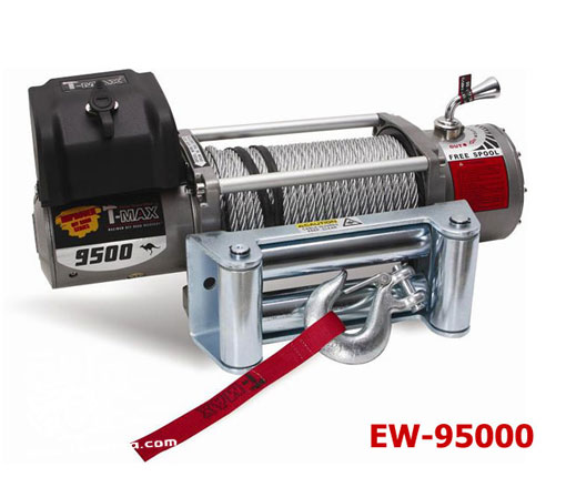 วินซ์ตัวที่ 2 T-Max รุ่น EW 9500 (OFFROAD SERIES) OFF ROAD SERIES P/N : (12 V/5.5 HP) P/N : 7330211 (24 V/6 HP) 9500LB (4350Kg.)/5.5HP12 V/6 HP24V WEIGHT : 84 lbs / 38 Kg.