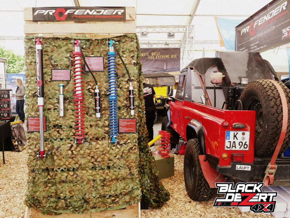 แสดงสินค้า Profender at Abenteuer Allrad exhibition in Germany