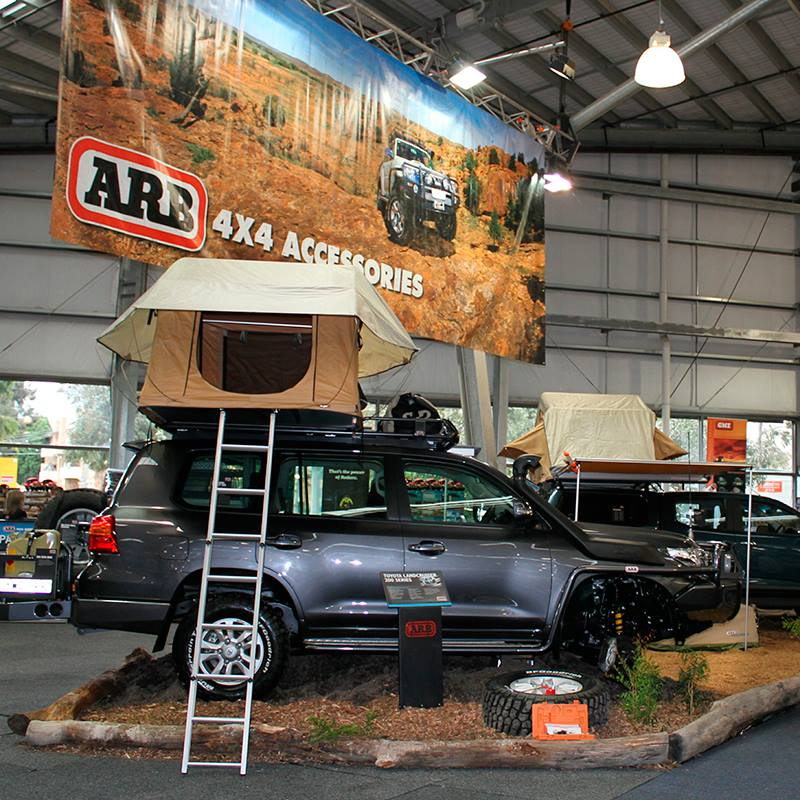 ARB 4x4 Accessories ออสเตรเลีย The Melbourne 4x4 Show kicks off this Friday at the Melbourne Showgrounds. We'll have a huge range of the latest vehicles on display as well as some great show specials on offer. Come and say g'day at stand A100 in Hall 1.