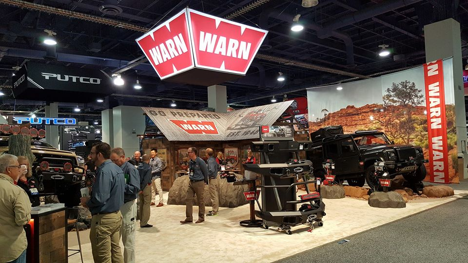 WARN booth this year, new concept (sema show 2017)เครดิตภาพ : เฮียหวี