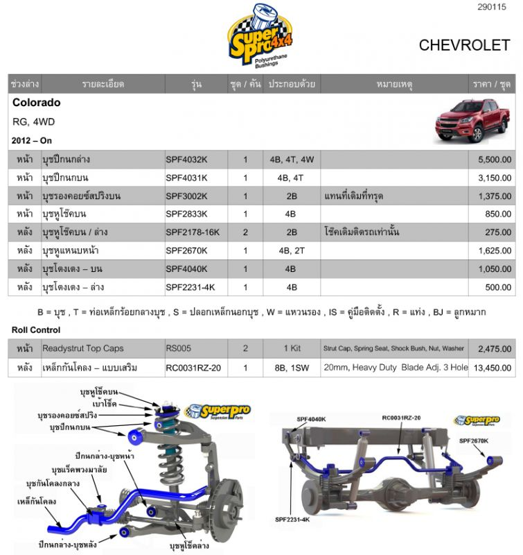 บุช Chevrolet Colorado RG, 4WD