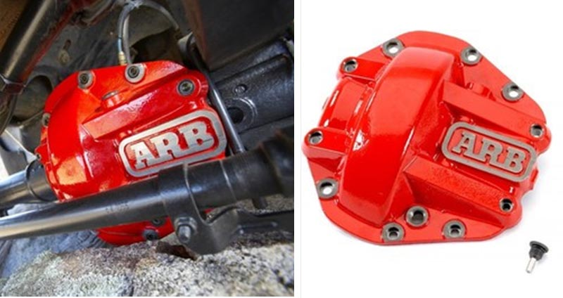 ARB DIFFERENTIAL COVER FOR DANA 44 , 30 AXLES RED  ฝาครอบเฟืองท้าย ARB หน้า หลัง สำหรับ jeep wrangler TJ
