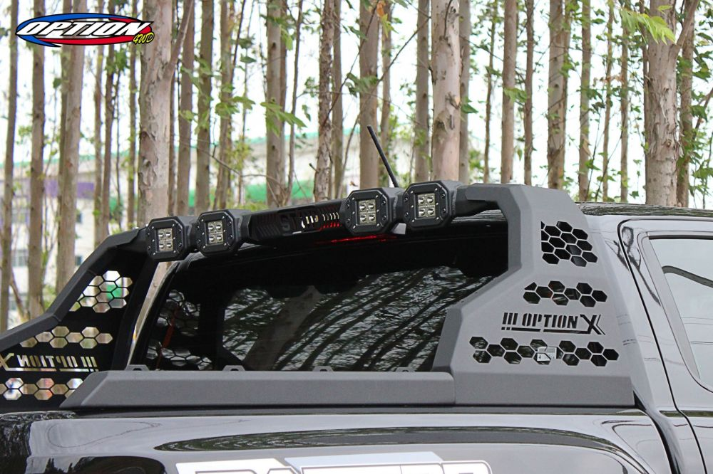* ROLL BAR OPTION X (พร้อมไฟ LED4 ดวง) ราคา 15,900ฺ฿Car Model:- FORD-RANGER (2012-ON), RAPTOR