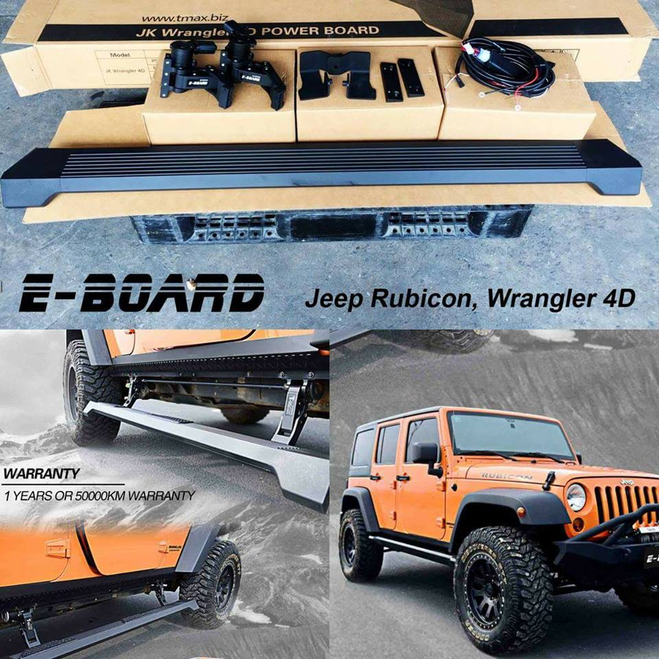 E Board Power step สำหรับ Jeep Rubicon, Wrangler 4D