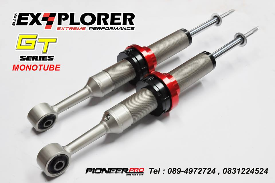 Explorer II Shox GT Series (MonoTube) Toyota : Vigo, Champ, Revo 4wd, FortunerFord : Ranger T6, Everest- 52 mm. Body diameter.- 20 mm. Chrome piston rod.- 46 mm. Diameter piston.- EDP Coated- Nitrogen Gas