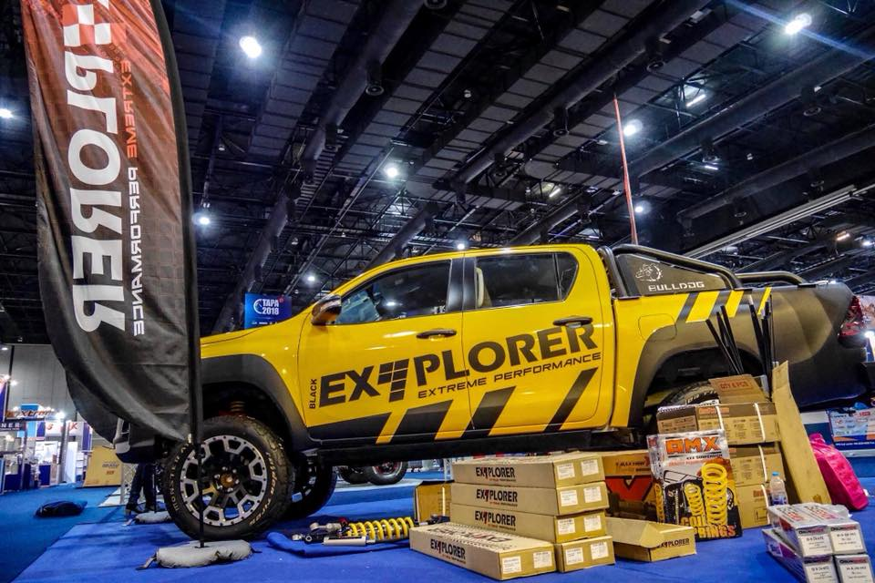 พบกับโช๊ค Explorershox in TAPA show2018 Let's explorer with us.