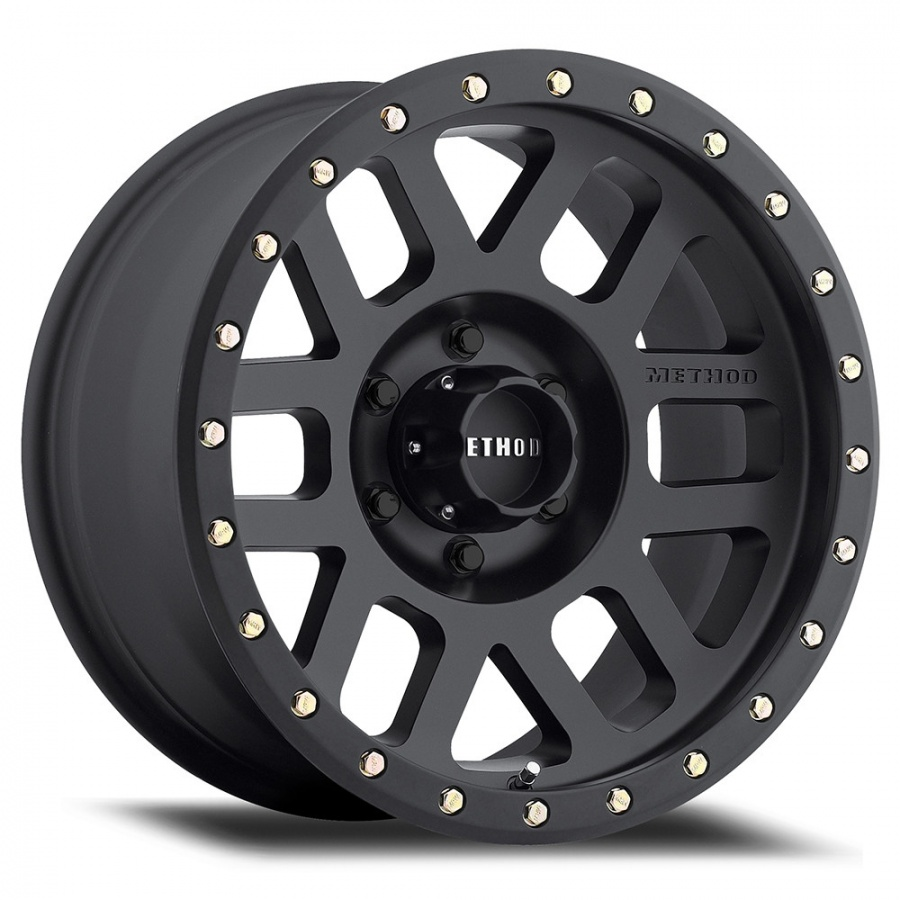 MR309 Grid, 16x8.0, 0 mm Offset, 6x5.5Bolt Pattern, Matte Black Finish Product Code : 200-30968060500 SKU : 30968060500 ราคา : 10,490 / วง
