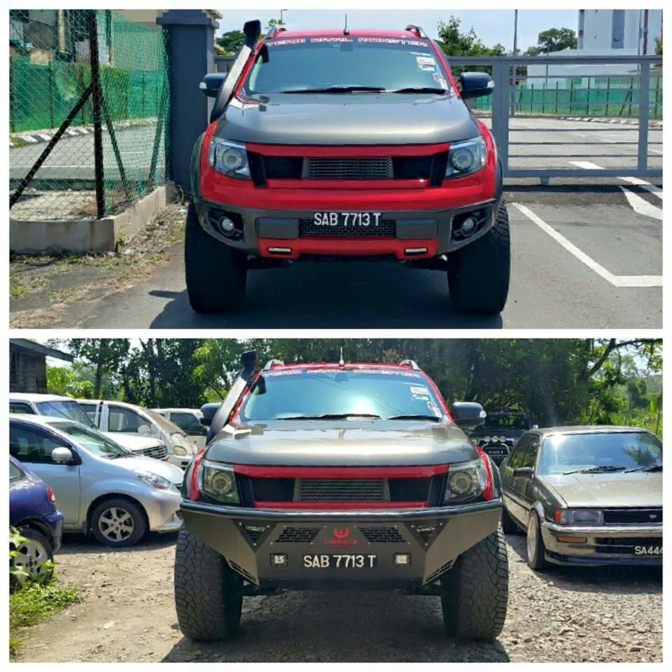 Hybrid H2 Ranger T6 from Phoenix MonsterBefore & After Thanks credit photo from Our Malaysia Dealer