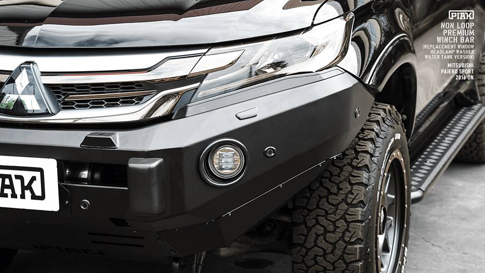 กันชนหน้า Mitsubishi Pajero Sport (2016 on) _ Non Loop Premium Winch Bar