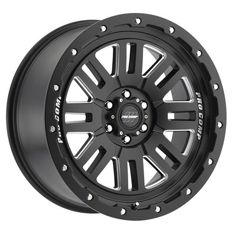 ล้อแม็ก Pro Comp Alloy Wheels รุ่น 61 Series Cognito - Satin Black Milled 18X9, P.C.D. 6X139.7, ET 0
