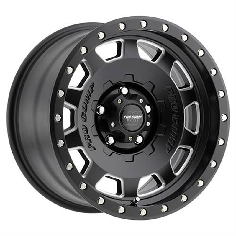 ล้อแม็ก Pro Comp Alloy Wheels รุ่น 60 Series Hammer - Satin Black Milled 18X9, P.C.D. 6X139.7, ET 0
