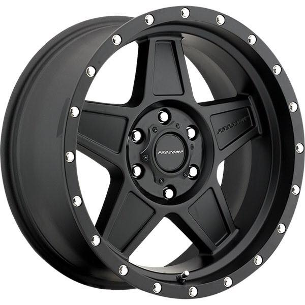 ล้อแม็ก Pro Comp Alloy Wheels รุ่น 35 Series Predator - Satin Black  18X9, P.C.D. 6X139.7, ET 0