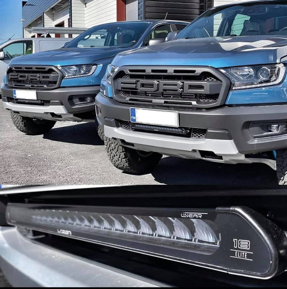 "Perfect fit !!! Bolt On Ford Ranger Raptor สปอร์ตไลท์ Linear 18"" by Lazerlamps Made In U.K.#linear18#lazerlamps#ford#rangerraptor"